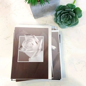 21 Blank BW Floral Cards